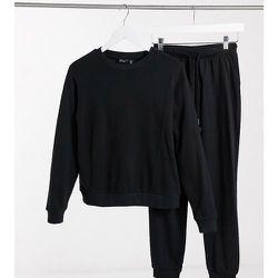 ASOS DESIGN Petite - Ultimate - Survêtement avec sweat-shirt/jogger en coton biologique avec liens - ASOS Petite - Modalova