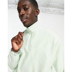 Sweat-shirt oversize à col zippé en polaire - pastel - ASOS DESIGN - Modalova