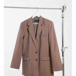 ASOS DESIGN Tall - Perfect - Blazer de costume ample coupe dad - Moka - ASOS Tall - Modalova