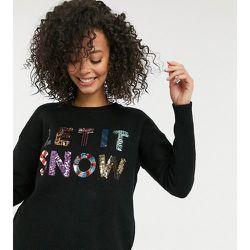 ASOS DESIGN Tall - Pull de Noël à inscription «Let It Snow» en sequins vendu au profit de la Fondation ASOS - ASOS Tall - Modalova