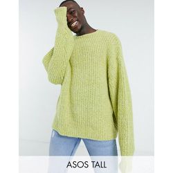 Tall - Pull oversize en tricot chunky - citron - ASOS DESIGN - Modalova