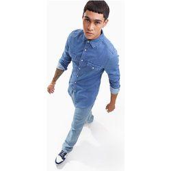 Veste en jean coupe skinny style western à délavage moyen - ASOS DESIGN - Modalova