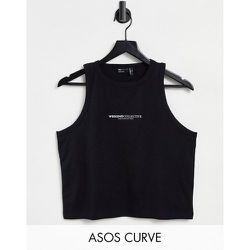 ASOS - Weekend Collective Curve - Débardeur sans manches côtelé à logo - ASOS Weekend Collective - Modalova