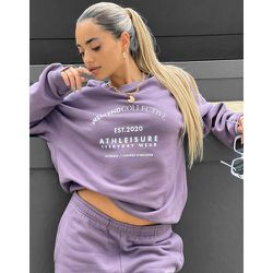 ASOS - Weekend Collective - Sweat-shirt d'ensemble oversize avec logo arrondi - Aubergine - ASOS Weekend Collective - Modalova