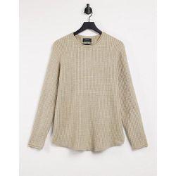 Pull en tricot gaufré - Camel - Bershka - Modalova
