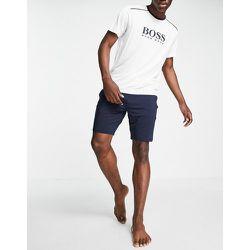 Refined - Ensemble de pyjama avec short et t-shirt - Bleu / blanc - BOSS Bodywear - Modalova