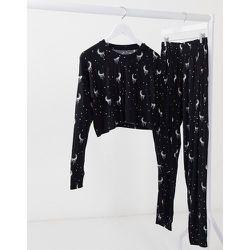 Ensemble de pyjama avec pantalon long motif lune - Brave Soul - Modalova
