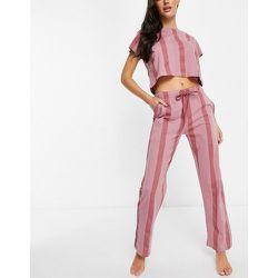 Ensemble pyjama t-shirt et pantalon - Rayures - Brave Soul - Modalova