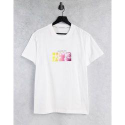T-shirt à logo et imprimé palmiers multicolore - Calvin Klein Jeans - Modalova