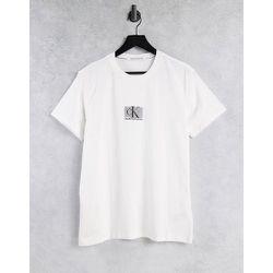 T-shirt avec logo encadré rayé - Calvin Klein Jeans - Modalova