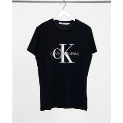 T-shirt slim à emblème monogramme - Calvin Klein Jeans - Modalova