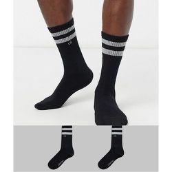 Lot de 2 paires de chaussettes à rayures - Calvin Klein - Modalova