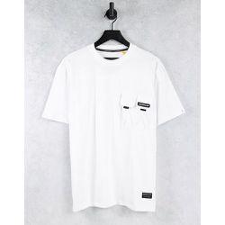 Caterpillar - T-shirt avec étiquette à logo et double poche - Cat Footwear - Modalova