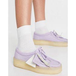 Wallabee Cup - Chaussures à semelle plateforme en nubuck - Lilas - Clarks Originals - Modalova