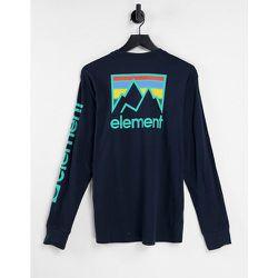Joint - T-shirt à manches longues avec imprimé au dos - Bleu - Element - Modalova