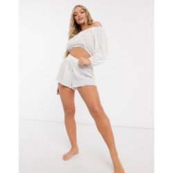 Fia - Short de plage à cordon de serrage (ensemble) - Fashion Union - Modalova