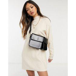 Robe pull à col montant en maille torsadée légère - Fashion Union - Modalova