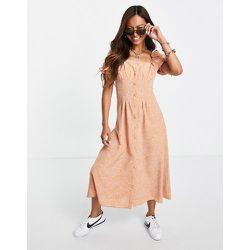 Robe rétro mi-longue avec taille fantaisie et imprimé bandana - Fashion Union - Modalova