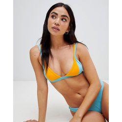 Mix & match - Haut de bikini triangle effet color block - Free Society - Modalova