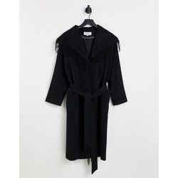 Manteau à franges style couverture en laine mélangée croisé sur le devant - Helene Berman - Modalova