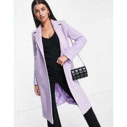 Manteau ajusté style universitaire en laine mélangée - Lilas - Helene Berman - Modalova