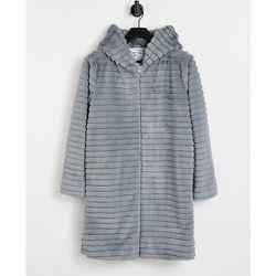 Manteau long à capuche en fausse fourrure - Helene Berman - Modalova