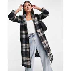 Manteau style universitaire en laine mélangée à carreaux - Noir - Helene Berman - Modalova