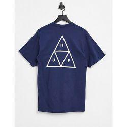 Essentials - T-shirt à imprimé trois triangles - Bleu - HUF - Modalova