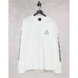 Essentials - T-shirt à manches longues avec imprimé triple triangle - HUF - Modalova