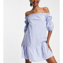 Robe courte à épaules dénudées - Rayures - Influence Tall - Modalova