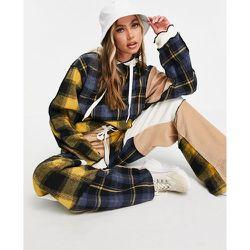 Hoodie d'ensemble oversize style patchwork avec coutures vieillies - Jaded London - Modalova