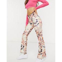 Pantalon ajusté et évasé effet tie-dye - Jaded London - Modalova