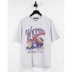 T-shirt oversize à imprimé Wyoming - Jaded London - Modalova
