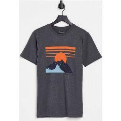 T-shirt à imprimé montagne en coton biologique - Knowledge Cotton Apparel - Modalova
