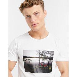 T-shirt en coton biologique à imprimé photographique - Knowledge Cotton Apparel - Modalova