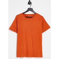 T-shirt en coton biologique - Rouille - Knowledge Cotton Apparel - Modalova