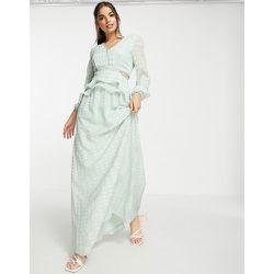 Robe longue à décolleté plongeant - menthe doux - Lipsy - Modalova