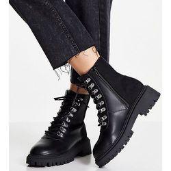 Pointure large - Bottines style chaussures de randonnée avec grosse semelle - London Rebel - Modalova