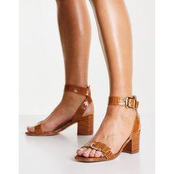 Sandales à talon carré - Fauve - London Rebel - Modalova