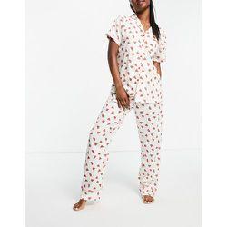 Bas de pyjama en crêpe de polyester imprimé pastèque - Loungeable - Modalova