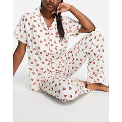 Chemise de pyjama en crêpe de polyester imprimé pastèque - Loungeable - Modalova
