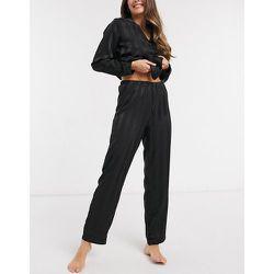 Pantalon en satin de jacquard à rayures - Loungeable - Modalova