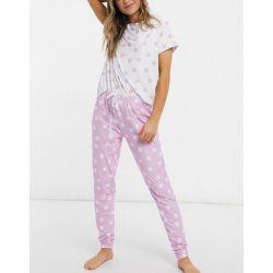 T-shirt à pois et legging - Lilas - Loungeable - Modalova