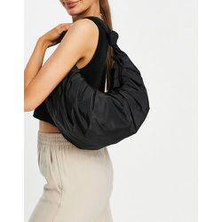 Sac porté épaule froncé style croissant en polyester recyclé - Mango - Modalova