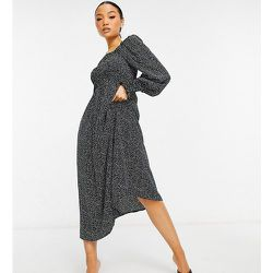 Robe mi-longue à motif dalmatien - Missguided Petite - Modalova