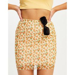 Mini-jupe d'ensemble en tulle à fleurs estivales - Motel - Modalova