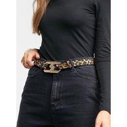 London - Ceinture hanches et taille pour jean avec maillons entrecroisés - Imprimé léopard - My Accessories - Modalova