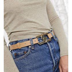 London - Exclusivité - Ceinture hanches et taille pour jean avec maillons entrecroisés - Fauve - My Accessories - Modalova