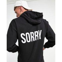 Hoodie à imprimés «Sorry» au dos et «Not Sorry» sur le devant - Night Addict - Modalova