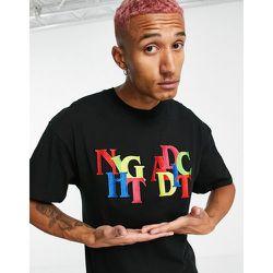 Night Addict - T-shirt brodé-Noir - Night Addict - Modalova